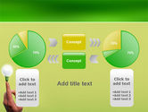 Lamp on Finger PowerPoint Template#11