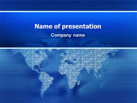 Digital Communication World PowerPoint Template, 02454, Global — PoweredTemplate.com