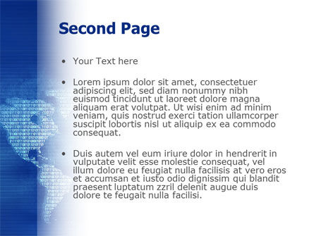 Digital Communication World PowerPoint Template, Slide 2, 02454, Global — PoweredTemplate.com