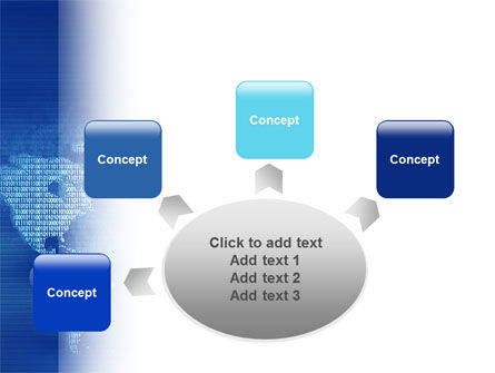 Digital Communication World PowerPoint Template Slide 7