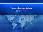 Digital Communication World PowerPoint Template#1