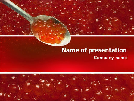 Food & Beverage: Caviar PowerPoint Template #02455