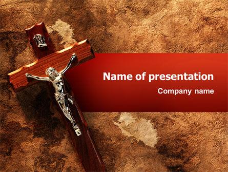 Religious/Spiritual: 十字架PowerPoint模板 #02456