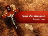 Religious/Spiritual: Crucifixion PowerPoint Template #02456