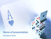 Art & Entertainment: Cards For Playing PowerPoint Template #02457