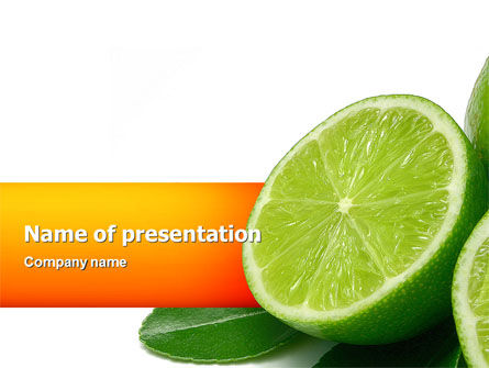 Lime PowerPoint Template, 02460, Food & Beverage — PoweredTemplate.com