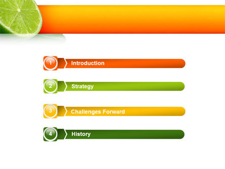 Lime PowerPoint Template, Slide 3, 02460, Food & Beverage — PoweredTemplate.com