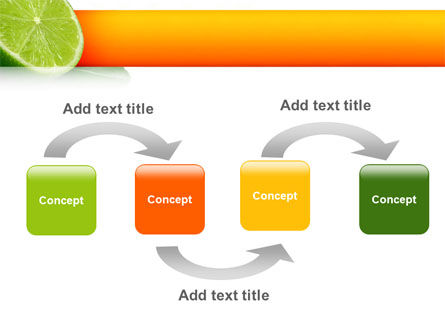 Lime PowerPoint Template, Slide 4, 02460, Food & Beverage — PoweredTemplate.com