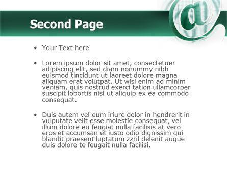 Internet Services PowerPoint Template, Slide 2, 02462, Telecommunication — PoweredTemplate.com