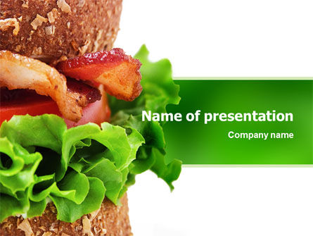Burger PowerPoint Template, 02463, Food & Beverage — PoweredTemplate.com