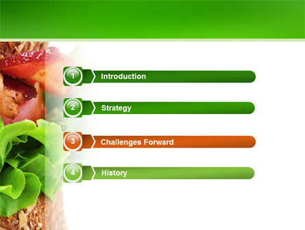 Burger PowerPoint Template, Slide 3, 02463, Food & Beverage — PoweredTemplate.com