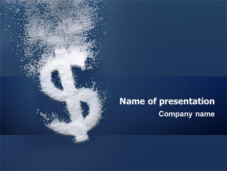 Dollar In Deep Dive PowerPoint Template
