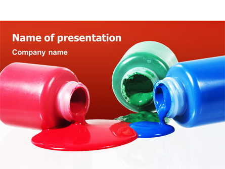 Paint Cans PowerPoint Template, 02465, Utilities/Industrial — PoweredTemplate.com