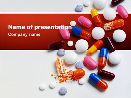 Pills and Tablets PowerPoint Template, 02467, Medical — PoweredTemplate.com
