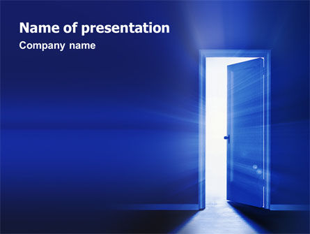 Business Concepts: Open Door PowerPoint Template #02468