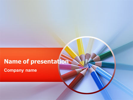 Business Concepts: Plantilla de PowerPoint - lapices de colores #02469