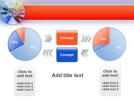 Color Pencils PowerPoint Template Slide 11