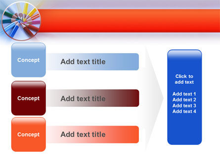 Color Pencils PowerPoint Template Slide 12