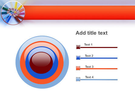 Color Pencils PowerPoint Template Slide 9