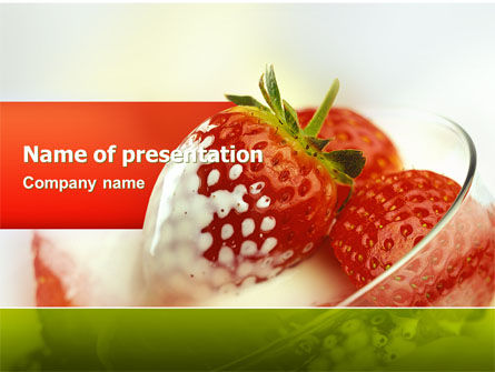 Strawberry PowerPoint Template, 02470, Food & Beverage — PoweredTemplate.com