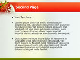 Strawberry PowerPoint Template#2
