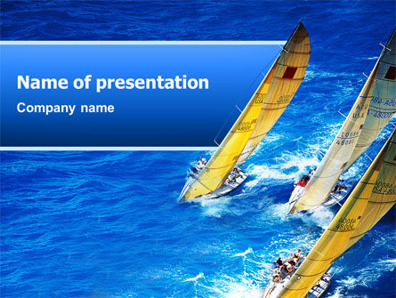 Regatta PowerPoint Template, 02475, Sports — PoweredTemplate.com