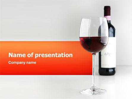 Bottle of Wine PowerPoint Template, 02476, Food & Beverage — PoweredTemplate.com