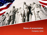America: Alamo Monument PowerPoint Template #02477