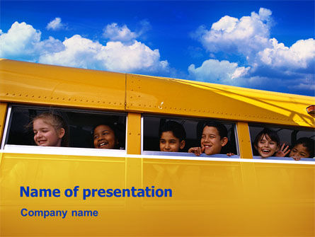 People: School Bus PowerPoint Template #02478