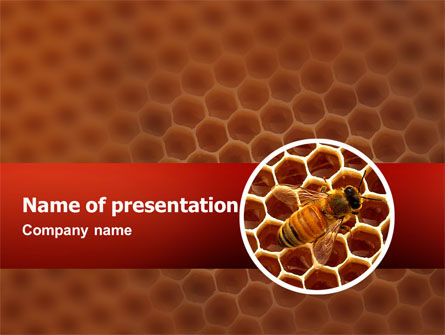 Agriculture: Bee PowerPoint Template #02480