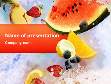 Food & Beverage: Water Melon PowerPoint Template #02481