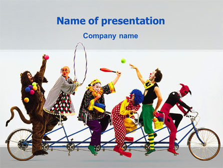 Art & Entertainment: Clowns PowerPoint Template #02482