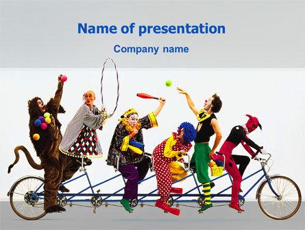 Art & Entertainment: 小丑PowerPoint模板 #02482