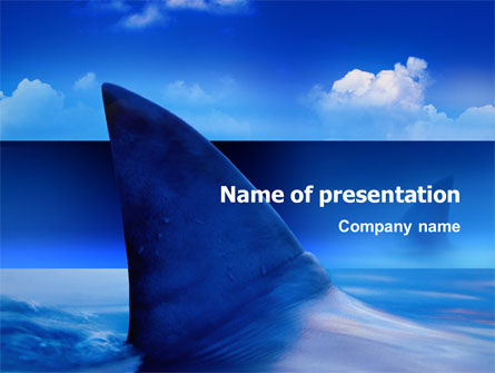 Animals and Pets: Shark PowerPoint Template #02483