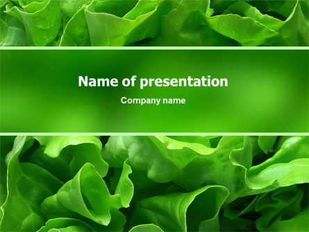 Lettuce PowerPoint Template, 02484, Food & Beverage — PoweredTemplate.com