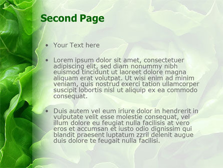 Lettuce PowerPoint Template, Slide 2, 02484, Food & Beverage — PoweredTemplate.com
