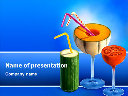 Vitamin Cocktail PowerPoint Template, 02487, Food & Beverage — PoweredTemplate.com