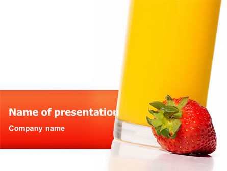 Food & Beverage: Juice PowerPoint Template #02489