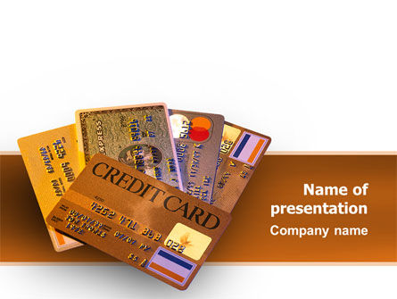 Financial/Accounting: Plastic Credit Card PowerPoint Template #02491