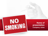 Medical: No Smoking PowerPoint Template #02493