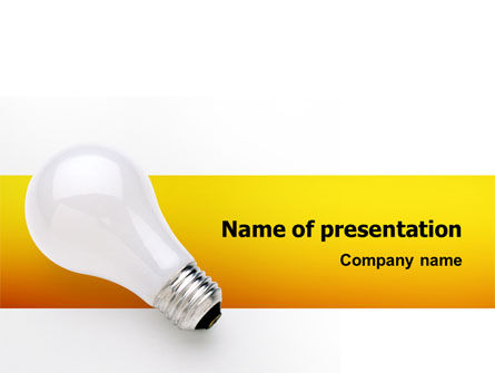 Consulting: Lamp PowerPoint Template #02494