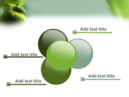 Green Apple On The Light Blue Background PowerPoint Template Slide 10