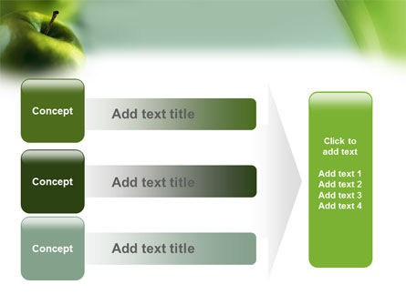 Green Apple On The Light Blue Background PowerPoint Template Slide 12