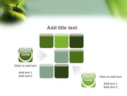 Green Apple On The Light Blue Background PowerPoint Template Slide 16