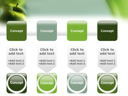 Green Apple On The Light Blue Background PowerPoint Template Slide 18