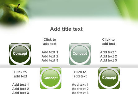 Green Apple On The Light Blue Background PowerPoint Template Slide 19