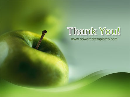 Green Apple On The Light Blue Background PowerPoint Template Slide 20
