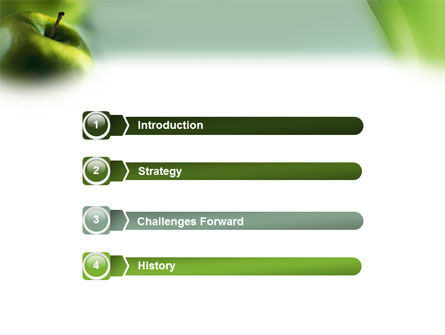 Green Apple On The Light Blue Background PowerPoint Template Slide 3