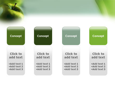 Green Apple On The Light Blue Background PowerPoint Template Slide 5