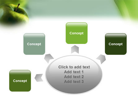 Green Apple On The Light Blue Background PowerPoint Template Slide 7
